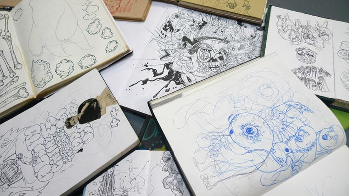 Zach Johnsen Sketchbook Drawings