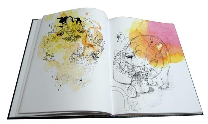 Zach Johnsen Sketchbook Page