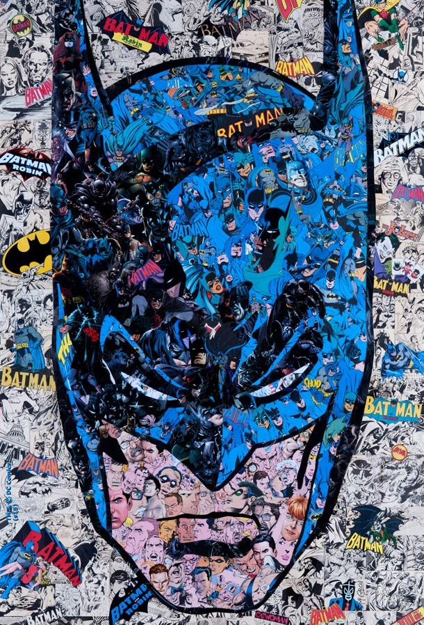 Batman Comic Collage Print