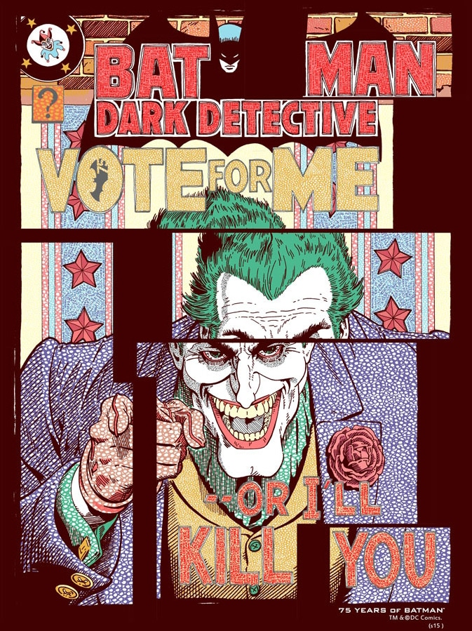 Joker Vote for Me Print