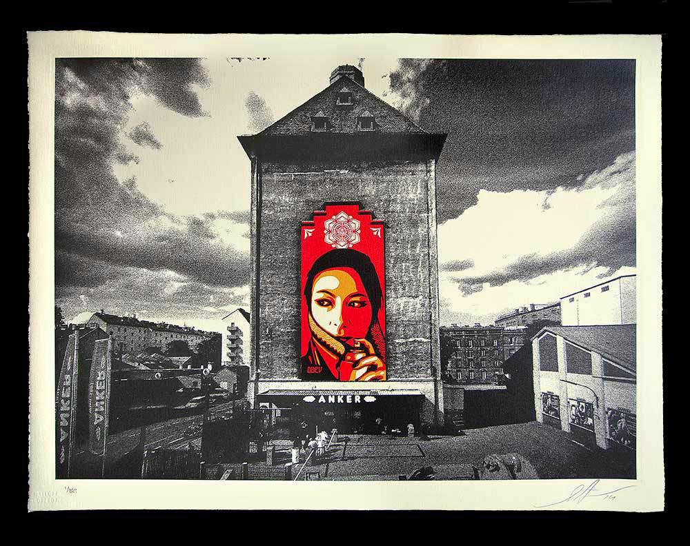 Obey Commanda Mural Etching