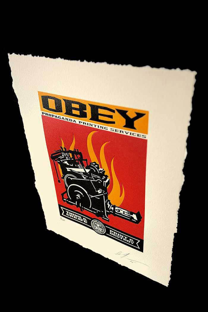 Print and Destroy Letterpress by Obey Angle