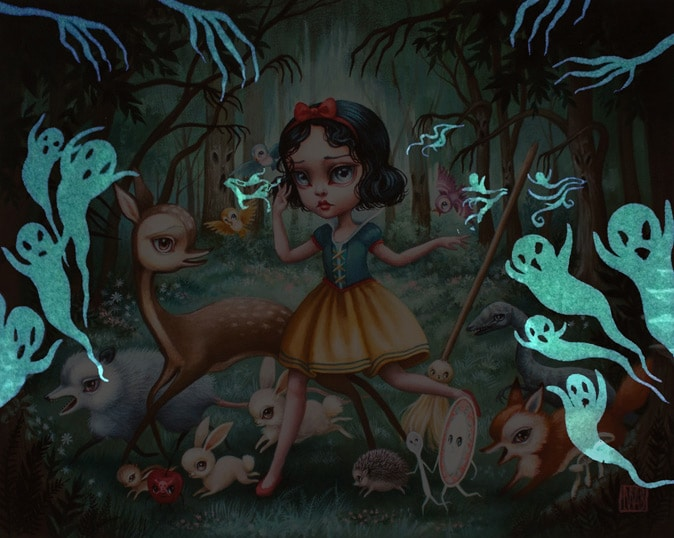 Snow White in The Black Forest Print GITD