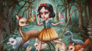 Snow White in The Black Forest Print