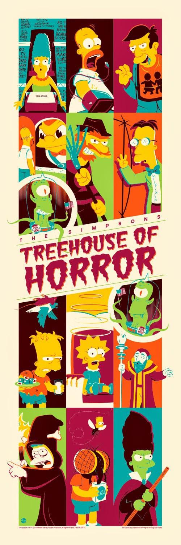 Treehouse of Horror Print from Dark Ink Art