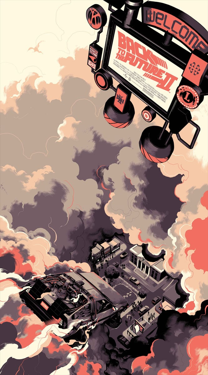 Back to the future part ii by matt taylor missed prints