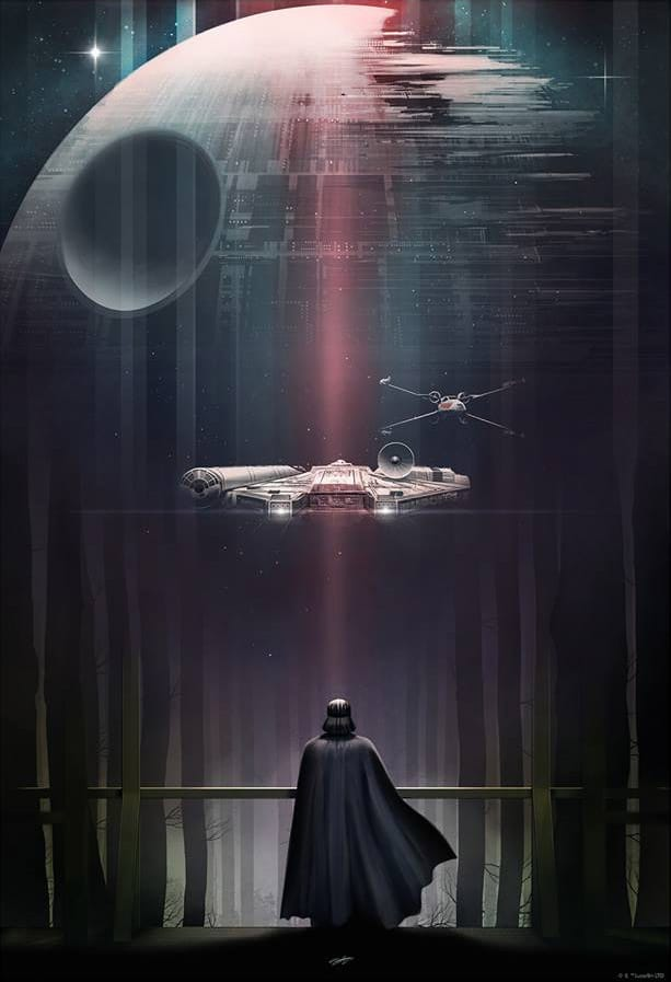 Official Star Wars Darth Vader Print from Andy Fairhurst