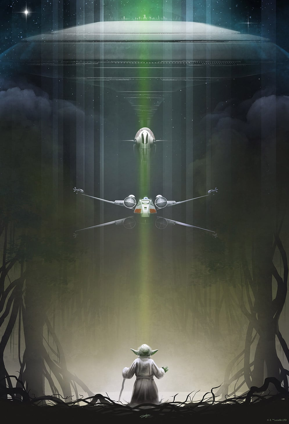 Official Star Wars Yoda Print from Andy Fairhurst