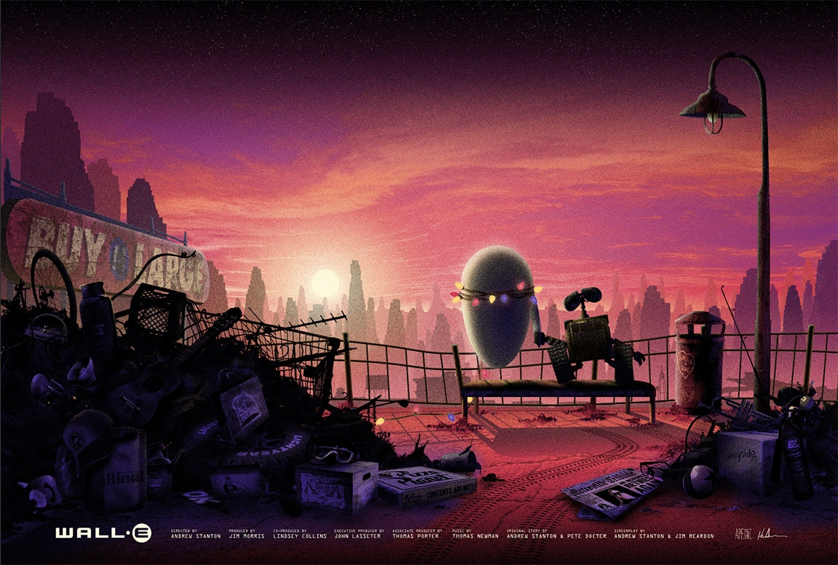 Wall-E First Date Print by Kevin M Wilson