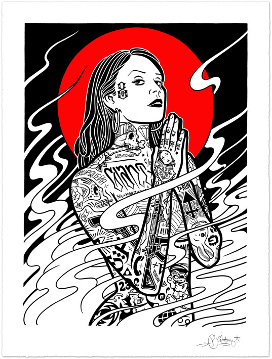 Burning Angel Print from Mike Giant