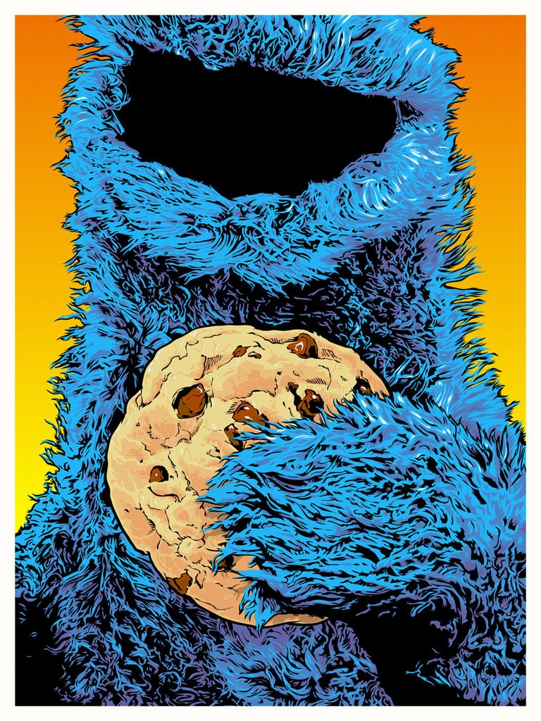 Cookie Monster Print