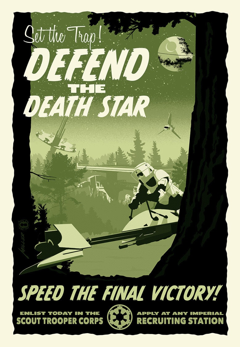 Defend the Death Star Poster
