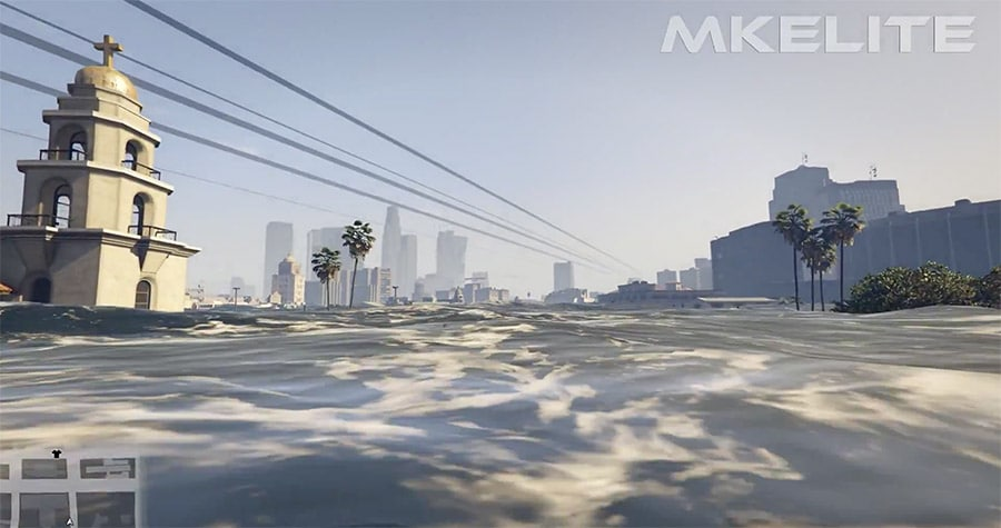 Awesome GTA V Tsunami Game Mod Screenshot 10