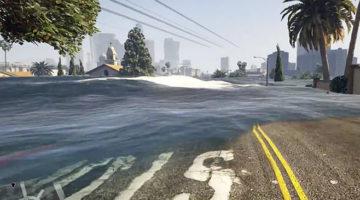 Awesome GTA V Tsunami Game Mod