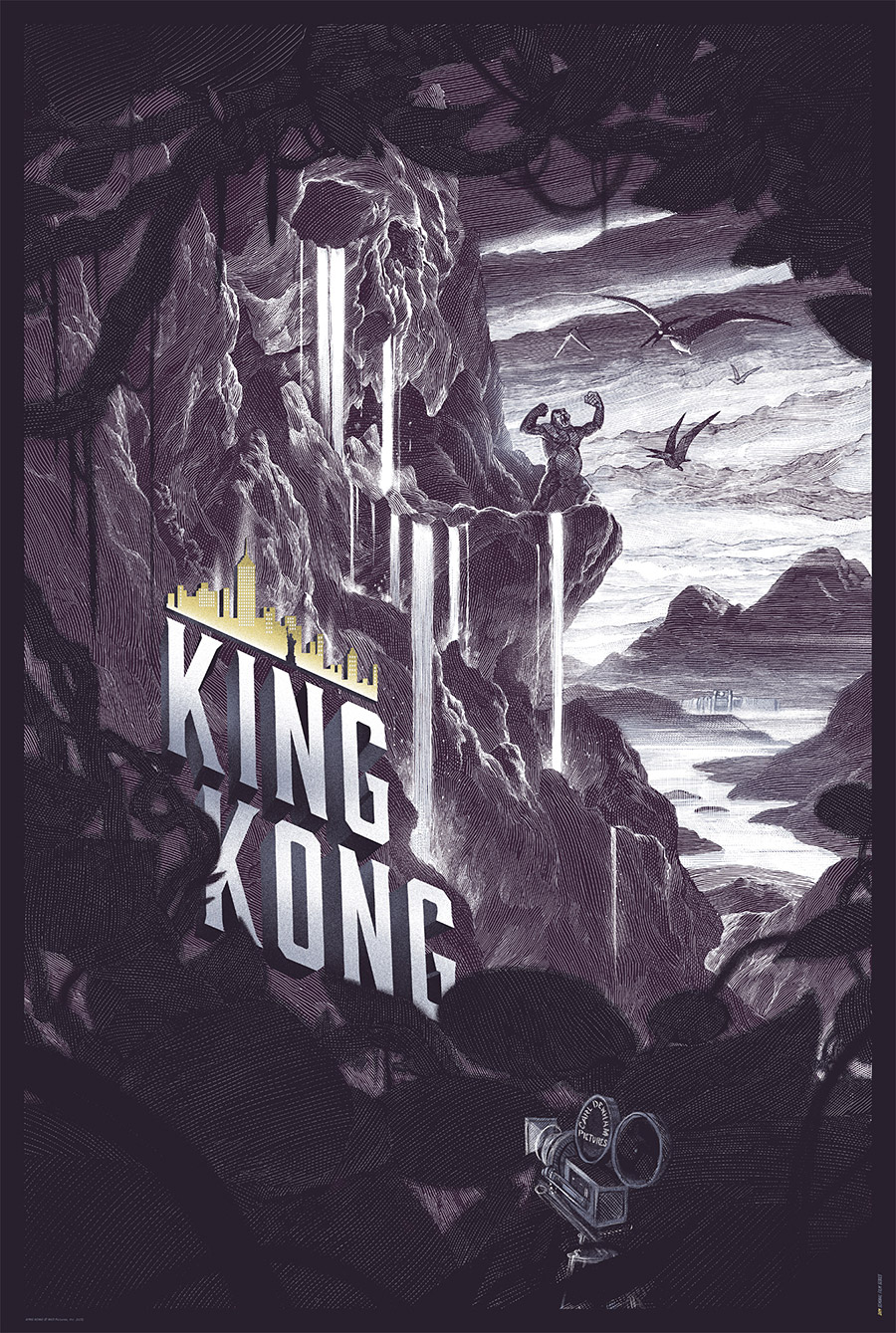 King Kong Canvas Poster from Nicolas Delort Variant