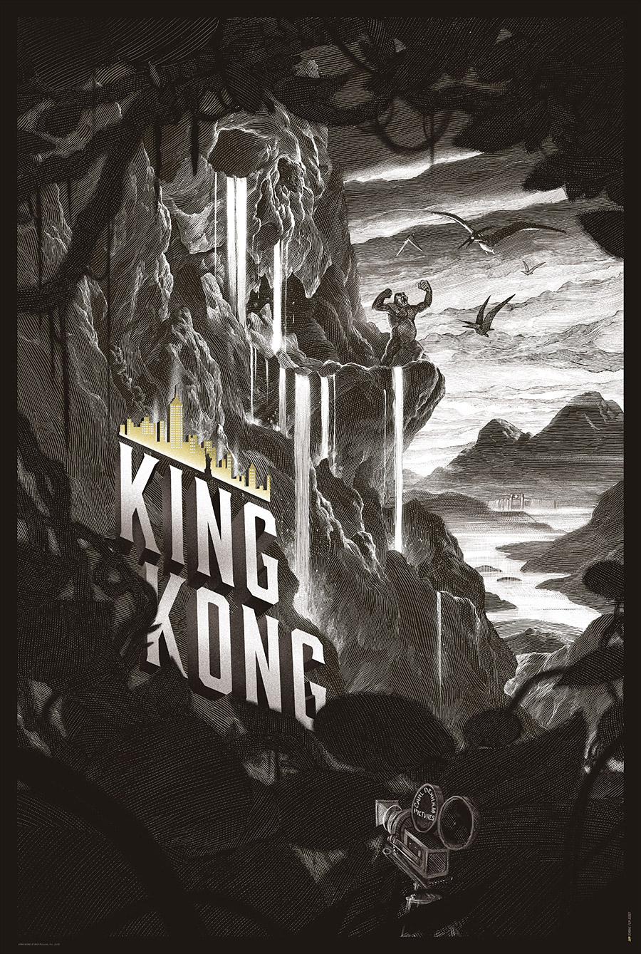 King Kong Poster from Nicolas Delort Variant
