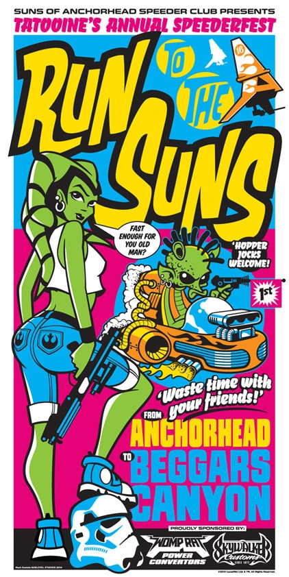 Race to the Suns Print