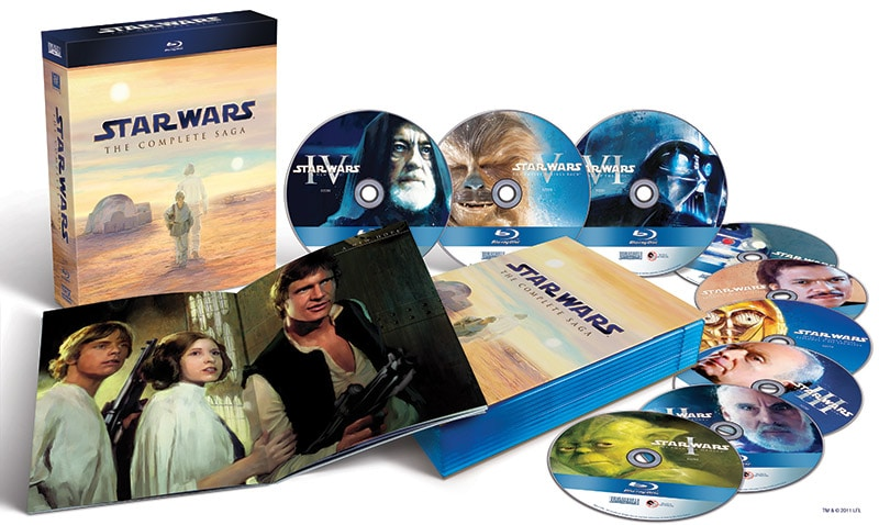 Star Wars The Complete Saga on Blu-ray