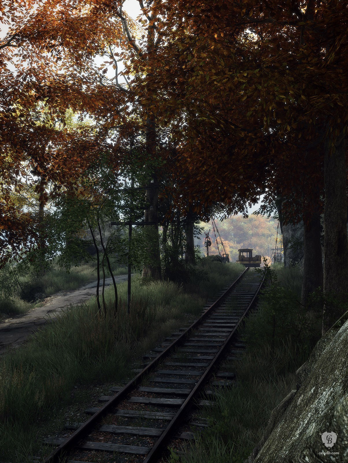 Tracks Vanishing of Ethan Carter Print