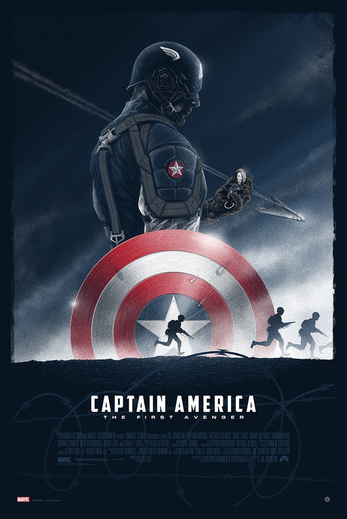 Captain America: The First Avenger Print From Marko Manev