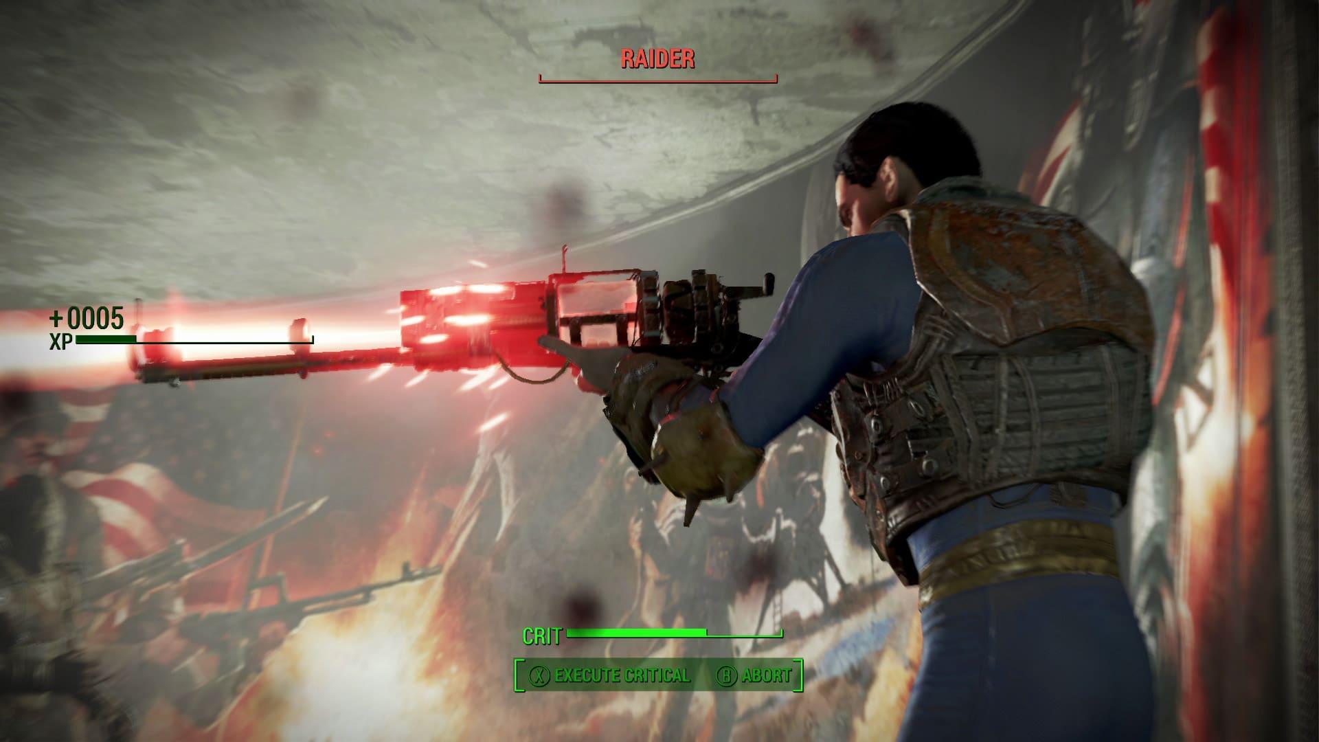 Fallout 4 Character Firing a Laser Gun