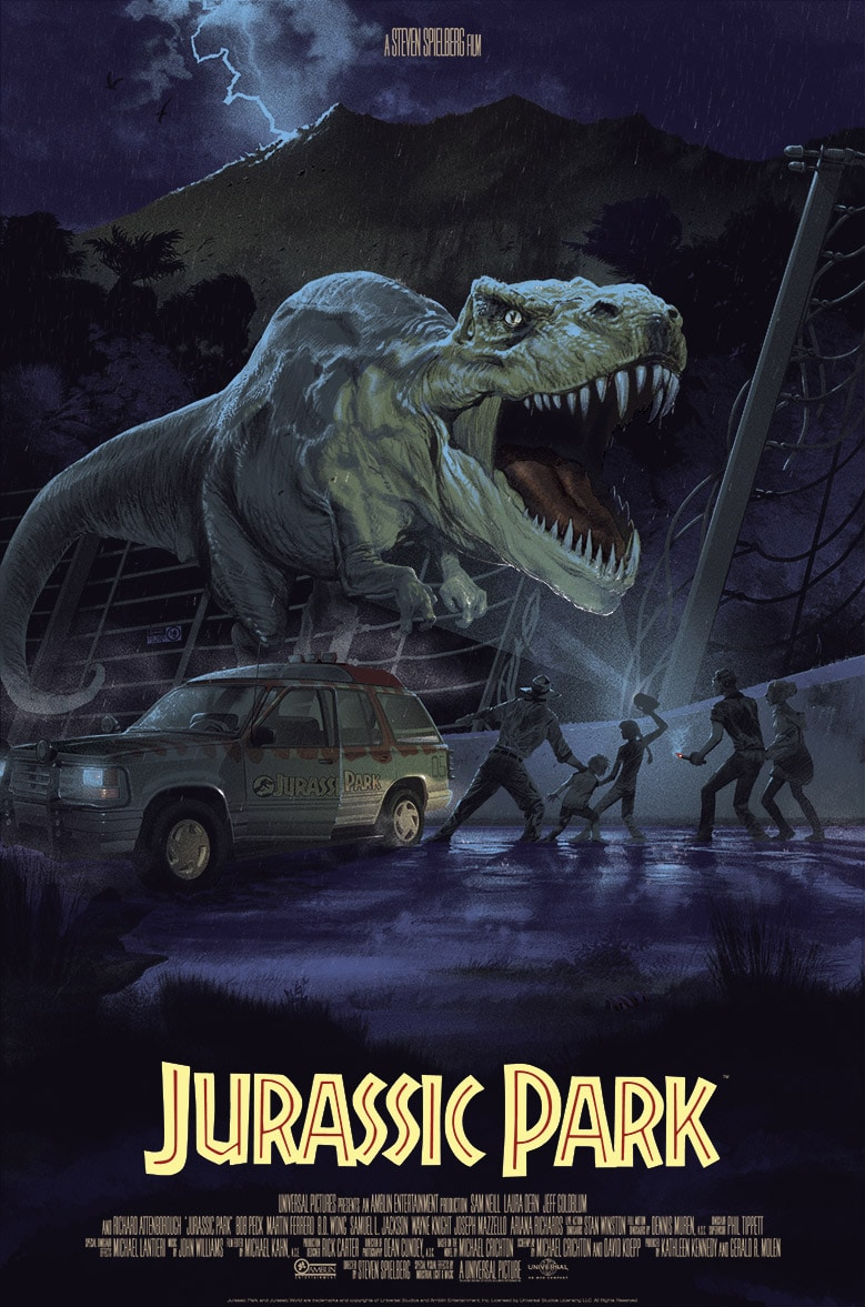 Jurassic Park Movie Poster by Stan Vince