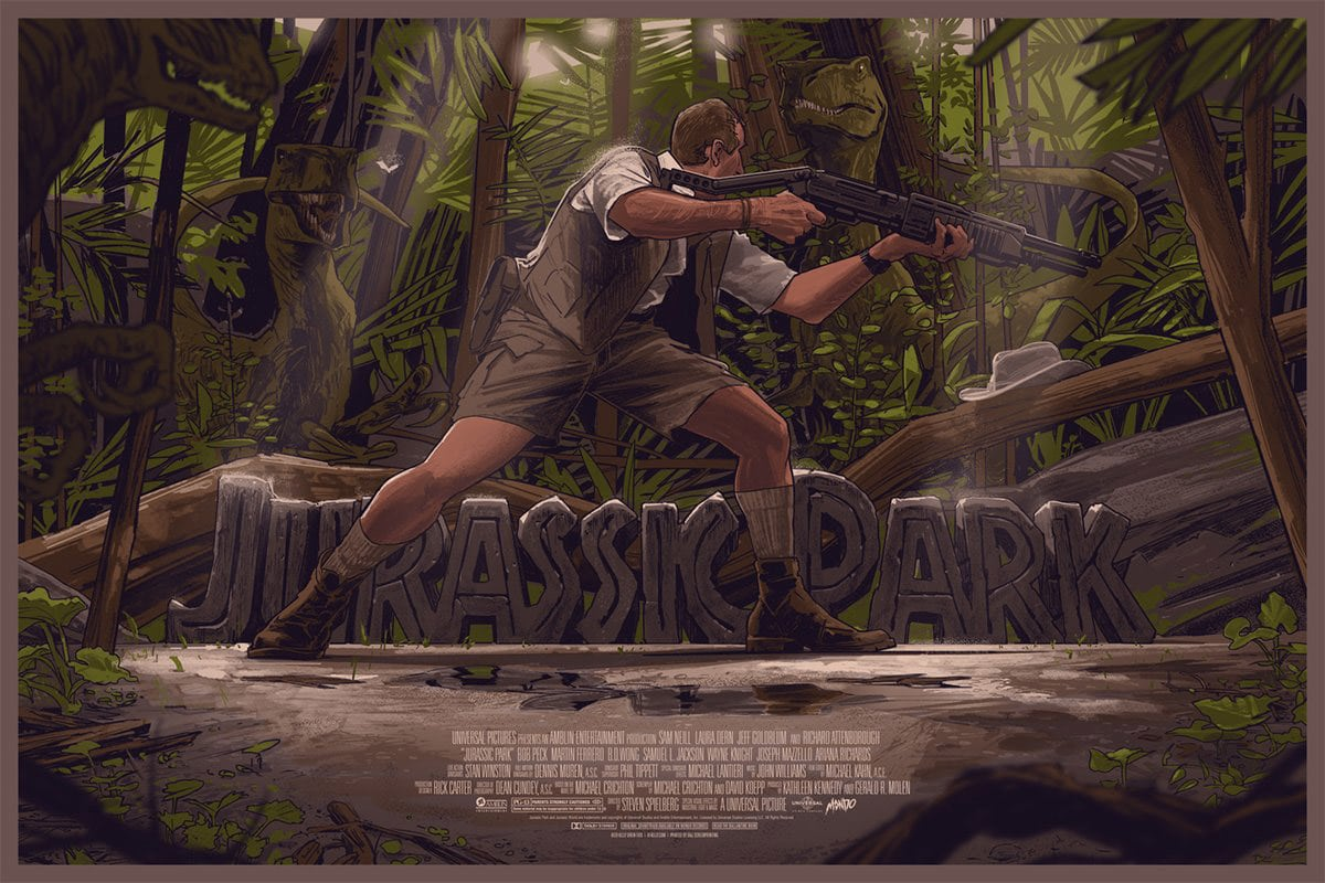 Jurassic Park Movie Poster by Rich Kelly