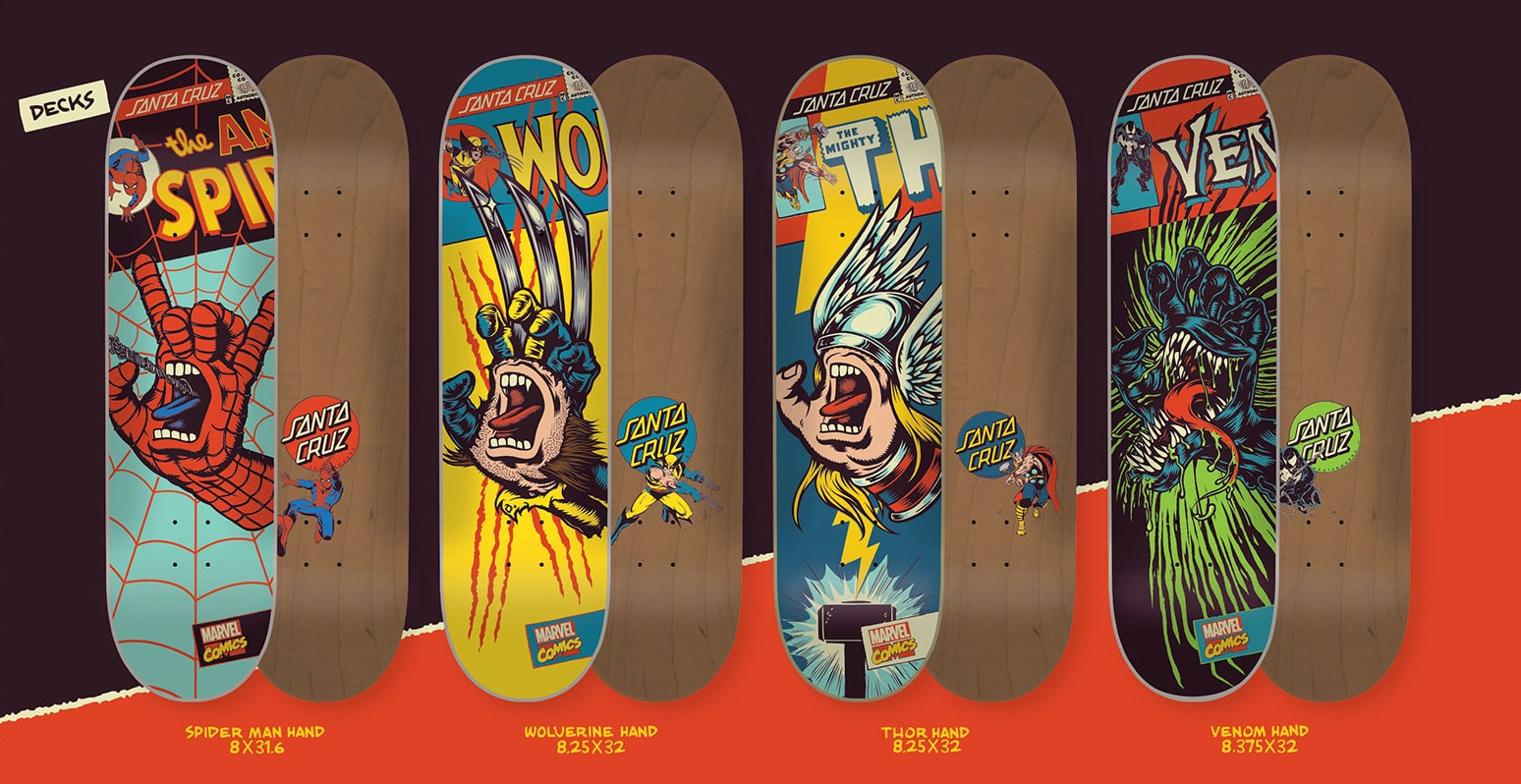 Marvel Character Skateboards