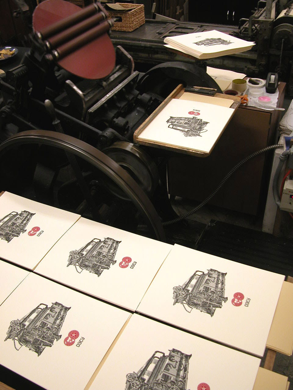 Obey Loom Letterpress Print Detail 1