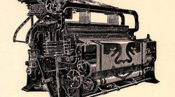 Obey Loom Letterpress Print