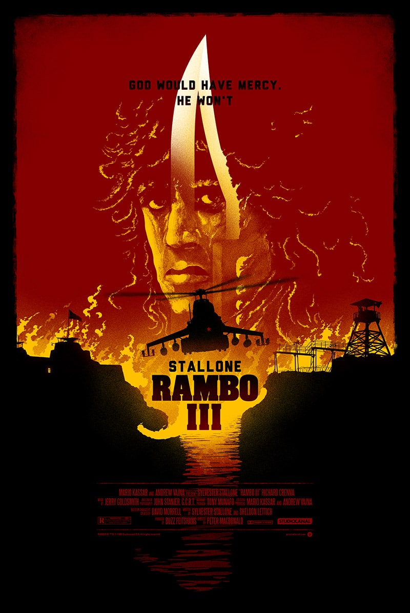 Rambo III Movie Poster by Marko Manev