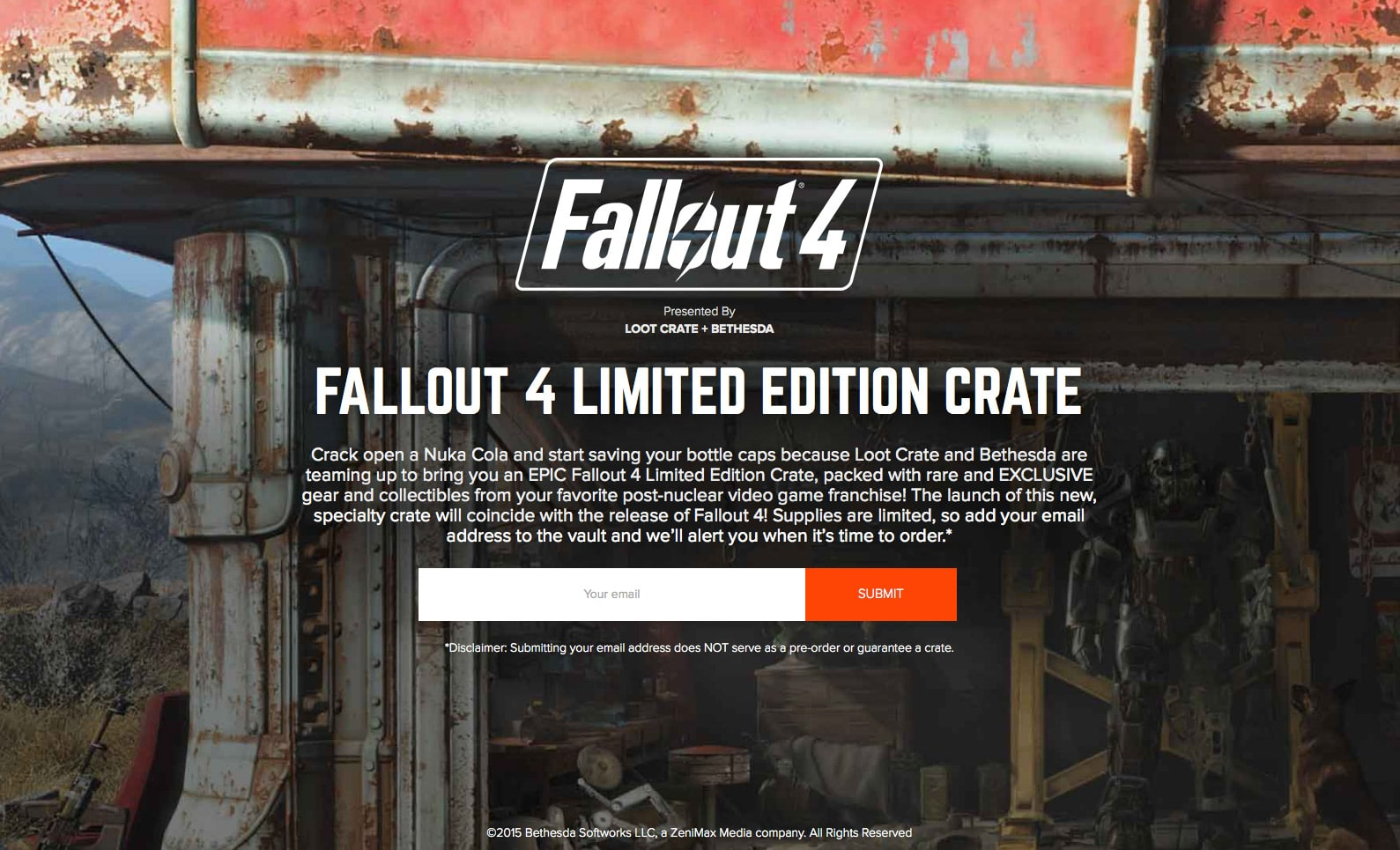 Loot Crate Fallout 4 Limited Edition Crate
