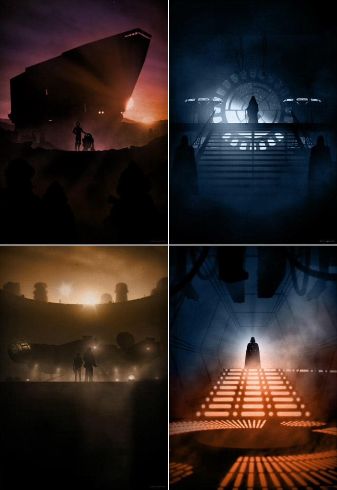 Star Wars Print Set by Marko Manev