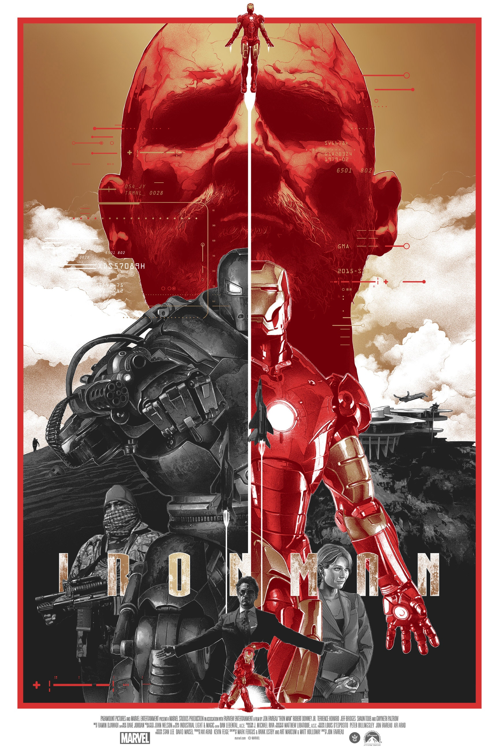 Iron Man Gold Foil Poster by Gabz