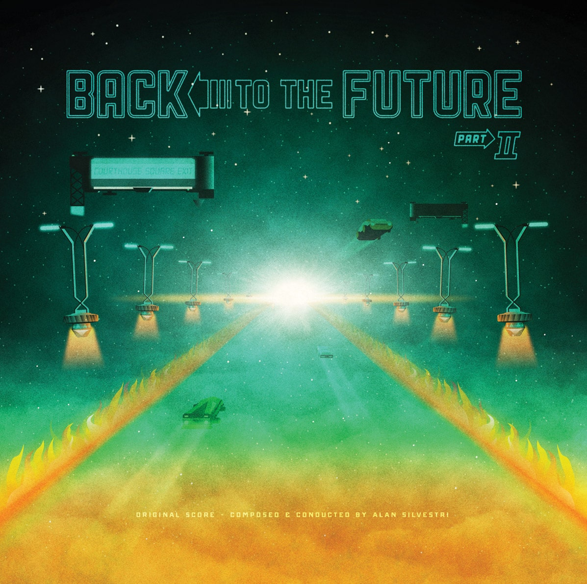 Back to the Future 2 Soundtrack Record Cover by DKNG