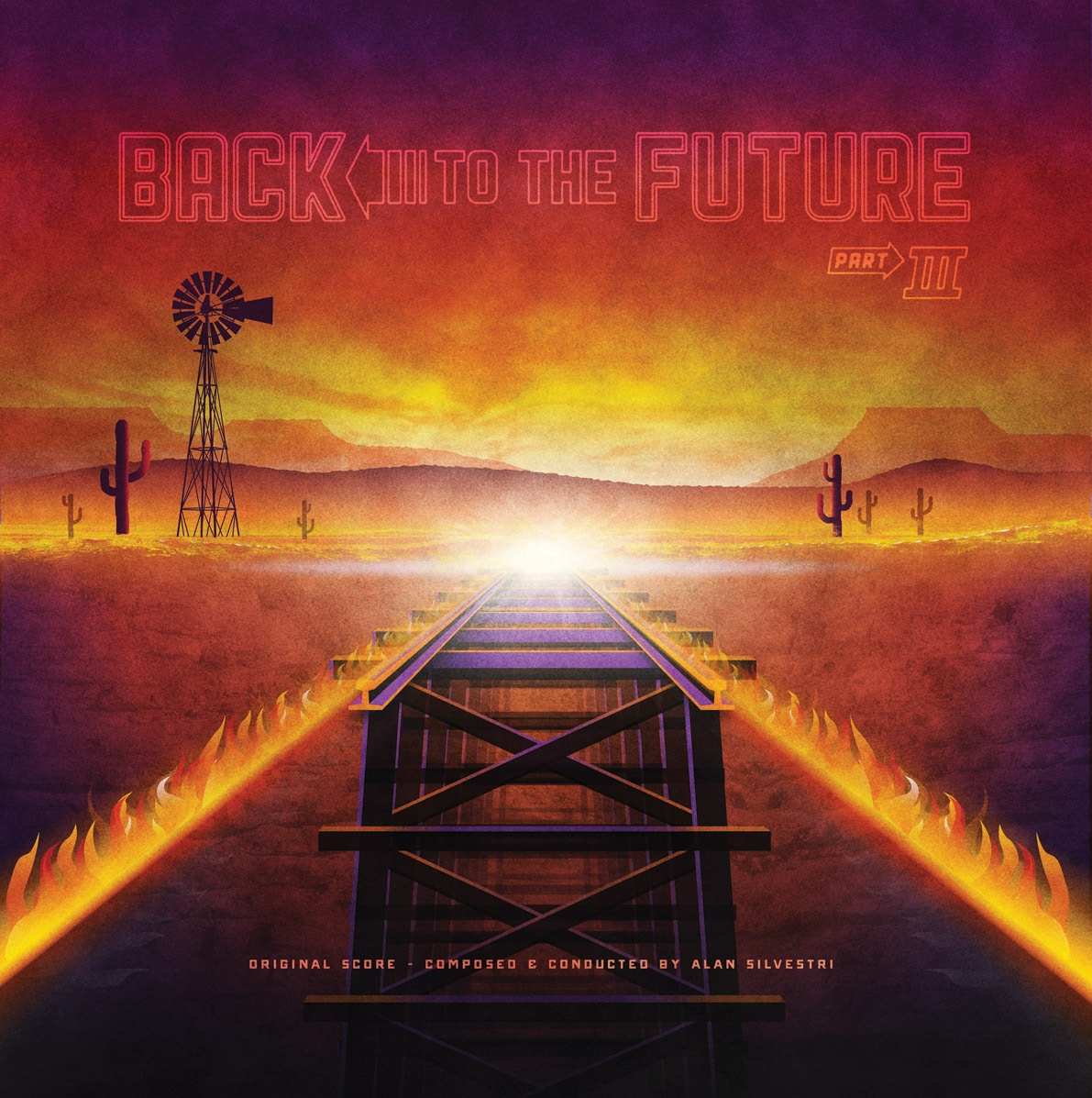Back to the Future 3 Soundtrack Record Cover by DKNG