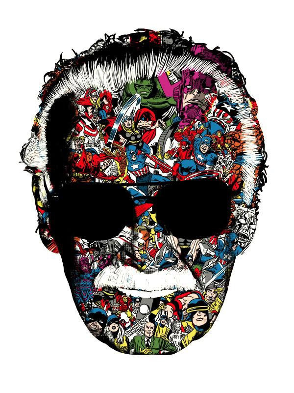 stan lee man of many faces print by raid71 missed prints